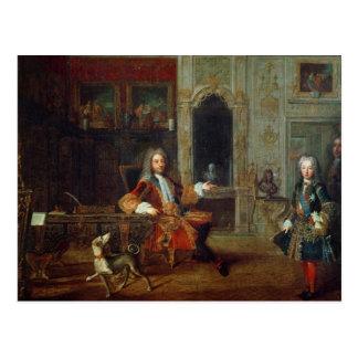 ルイXVおよび理事、Philippe II ポストカード