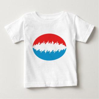 ルクセンブルクのすごい旗のTシャツ ベビーTシャツ