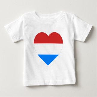 ルクセンブルクのハートの旗 ベビーTシャツ