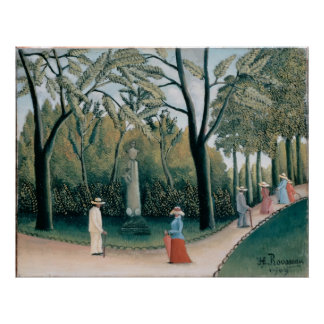 ルクセンブルクの庭。 ショパンへの記念碑 ポスター