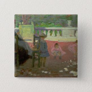 ルクセンブルクの庭 5.1CM 正方形バッジ