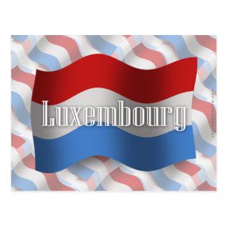 ルクセンブルクの振る旗 ポストカード