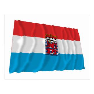 ルクセンブルクの振る旗(de legis) ポストカード