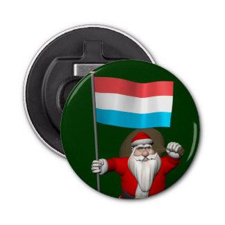 ルクセンブルクの旗を持つサンタクロース 栓抜き