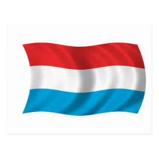 ルクセンブルクの旗 ポストカード