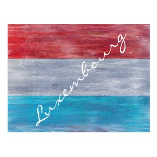ルクセンブルクの旗-個人化して下さい ポストカード