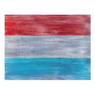 ルクセンブルクの旗- Luxembourgian旗 ポストカード