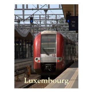 ルクセンブルクの駅 ポストカード