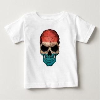 ルクセンブルクはスカルに印を付けます ベビーTシャツ