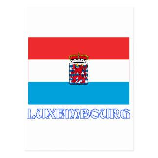 ルクセンブルクは(de legis)印を付けます名前と ポストカード