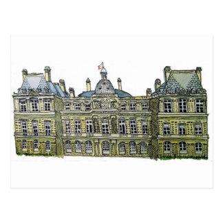 ルクセンブルク宮殿のスケッチ ポストカード