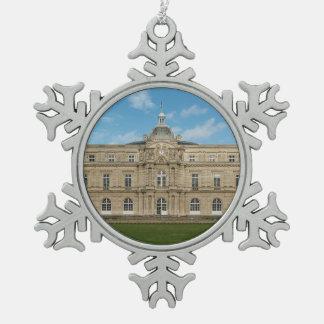 ルクセンブルク宮殿のフランスのな上院パリフランス スノーフレークピューターオーナメント