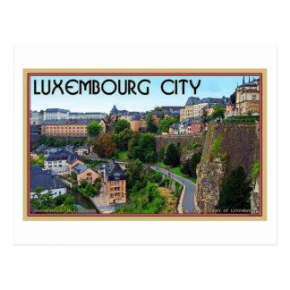 ルクセンブルク都市 ポストカード