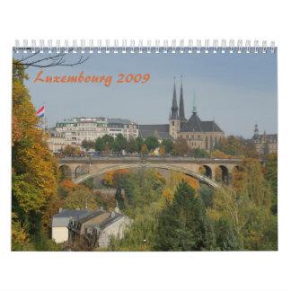 ルクセンブルク2009の壁掛けカレンダー カレンダー