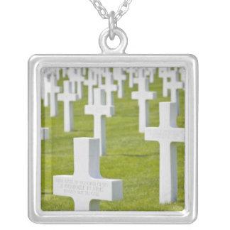 ルクセンブルク、Hamm。 米国の軍隊の墓地 シルバープレートネックレス
