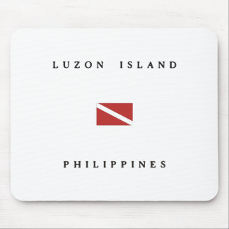 ルソン島の島のフィリピンのスキューバ飛び込みの旗 マウスパッド