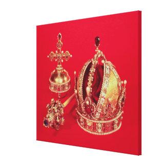 ルドルフの即位の王位の象徴II キャンバスプリント