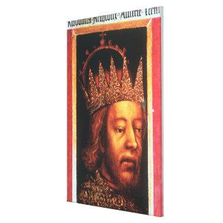 ルドルフオーストリアのIV、皇帝およびチロル、c.1360 キャンバスプリント