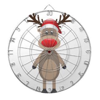 ルドルフトナカイのクリスマスのかわいいデザイン ダーツボード