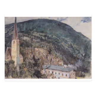ルドルフフォン著Gasteinのセントニコラス教会 ポストカード