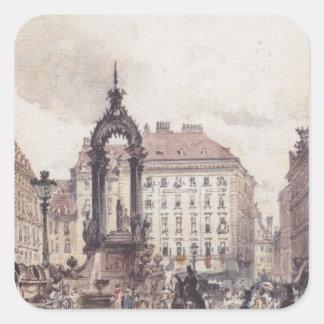 ルドルフフォンAlt著ウィーンの大きい市場 スクエアシール
