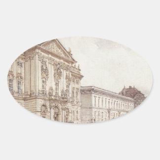 ルドルフフォンAlt著ウィーンのTrautson宮殿 楕円形シール