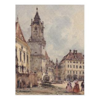 ルドルフフォンAlt著ブラティスラヴァの主要広場 ポストカード