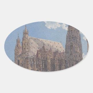 ルドルフ著ウィーンのセントスチーブンのカテドラル 楕円形シール