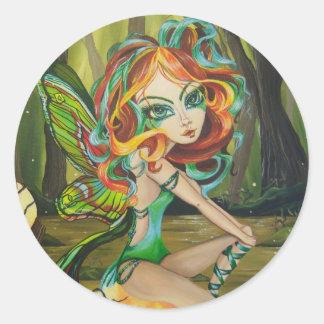ルナの妖精のステッカー ラウンドシール
