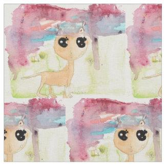 ルナの水彩画猫 ファブリック