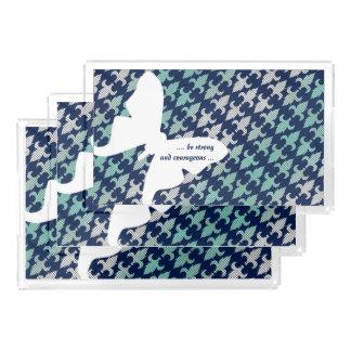 ルナガのバッファローの格子縞のダマスク織のミントの真夜中の青 アクリルトレー