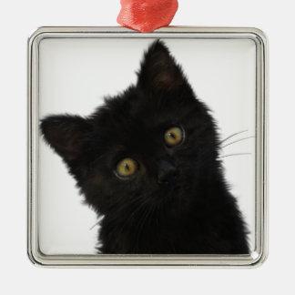 ルナBellaの黒い子ネコ メタルオーナメント