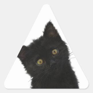 ルナBellaの黒い子ネコ 三角形シール