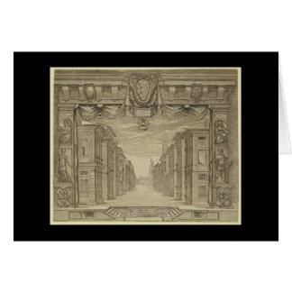 ルネサンスのステージのデザイン カード