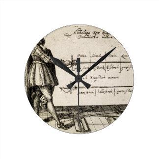 ルネサンスのフェンシング ラウンド壁時計