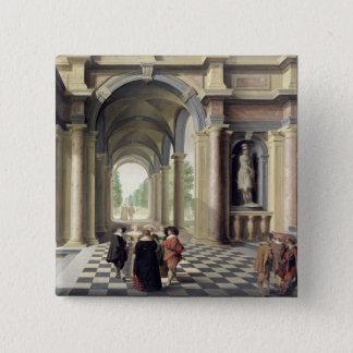 ルネサンスホール 5.1CM 正方形バッジ