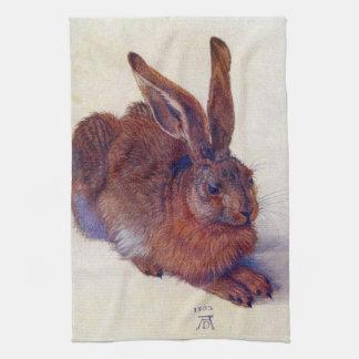 ルネサンス芸術、アルブレヒトDurer著若いノウサギ キッチンタオル