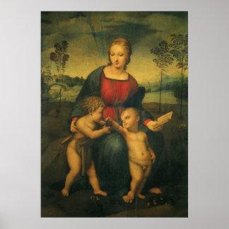 ルネサンス芸術、Goldfinch、Raphaelのマドンナ ポスター