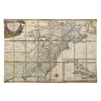 ルネPhelippeaux著1779人の植民地の住民アメリカのまれな地図 ランチョンマット