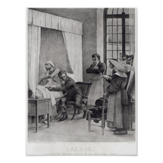 ルネTheophile Hyacinthe Laennec ポスター