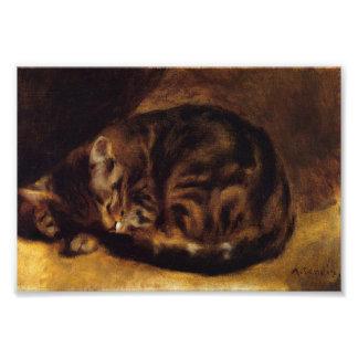 ルノアールの睡眠猫のプリント フォトプリント