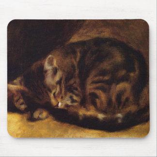 ルノアールの睡眠猫のマウスパッド マウスパッド