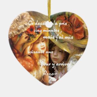 ルノアールの絵画は沢山の愛です セラミックオーナメント