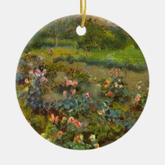 ルノアールの美しい印象派の芸術によるバラ園 セラミックオーナメント