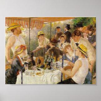 ルノアールの船遊びのパーティーの昼食会(Oboesと) ポスター