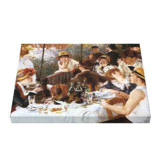ルノアールの船遊びのパーティーの`の昼食会」 キャンバスプリント