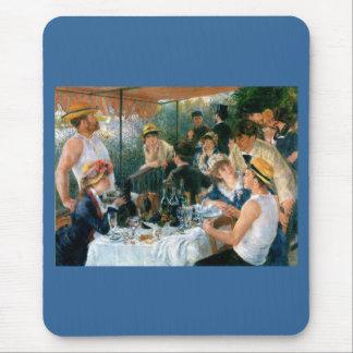 ルノアールの船遊びのパーティー(1881年)の昼食会 マウスパッド