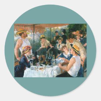 ルノアールの船遊びのパーティー(1881年)の昼食会 ラウンドシール