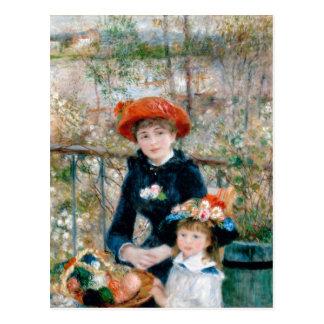 ルノアール台地のヴィンテージのファインアートの2人の姉妹 ポストカード
