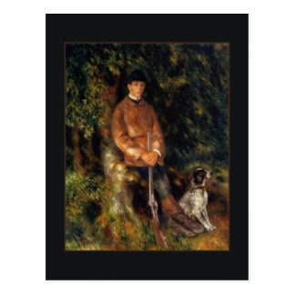 ルノアール著アルフレッドBerardおよび彼の犬 ポストカード